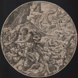 Heemskerck -Samson smiting the Philistines