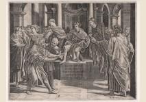 Agostino Veneziano - Blinding of Elymas