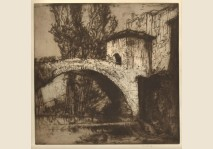 Brangwyn - Bridge at Subacio- 1924
