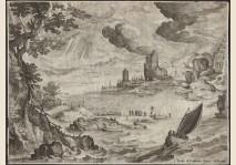 Paulus Bril - Harbour Scene